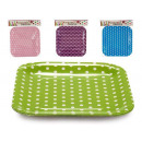 wholesale Household & Kitchen: set of 6 plates large square dots color