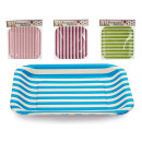 set of 6 large square colored stripes