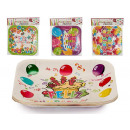 set of 10 small square dishes party mod