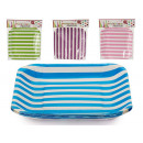 set of 10 small square dishes stripes colo