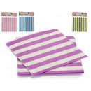 set of 10 colored striped napkins 4 times s