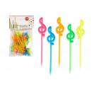 brochette musicale lettre couleurs assorti 30 pièc