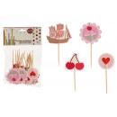 sticks décoratifs modèles 4 fois assorti 20 pièce
