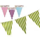 Großhandel Fanartikel & Souvenirs: 10 Stück gestreifte dreieckige Flagge