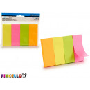 Notes adhésives grand assorti couleurs verticales