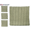 modèles de coussins en laine verte 4 fois assortim