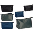 wholesale Travel Accessories: Toiletry bag men colors 3 assorted dark