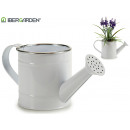 silver edge white watering can