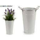 bucket high c handles white edged silver