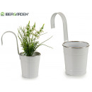 wholesale Garden & DIY store: hanging pot white phyllo silver