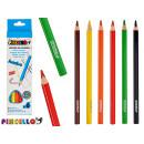 6 colored triangular jumbo pencils