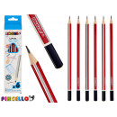 6 triangular colored pencils 2 times assorted