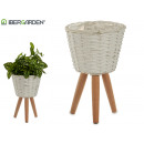 wholesale Garden & DIY store: white conical planter with legs