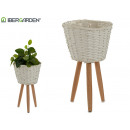 white conical planter with median legs