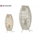 conical white lamp with legs