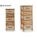 wood furniture 5 drawers home wide