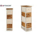 wooden cabinet 4 drawers narrow