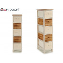 wooden cabinet 5 drawers narrow
