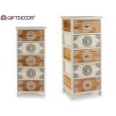wood cabinet 5 drawers wide mandala
