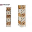 armadietto in legno 5 cassetti stretto mandala