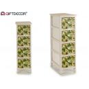 mobile in legno 4 cassetti h verde stretto