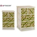mobile in legno 4 cassetti foglie verdi 50cm