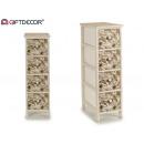 mobile in legno 4 cassetti a foglie strette