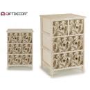 armadio in legno 4 cassetti fogli 50cm