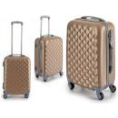 wholesale Bags & Travel accessories: abs suitcase beige rhombuses