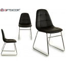 nayra style stuhl verchromte beine schwarz