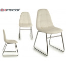Chaise style Nayra, pieds chromés blanc