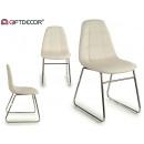 Stuhl im Nayra-Stil, Beine verchromt, weiß