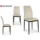 mayorista Casa y decoración: silla estilo atalia patas metal blanca