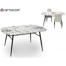 Marben style table oval black legs