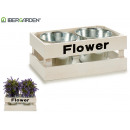 mayorista Jardin y Bricolage: macetero doble blanco flower