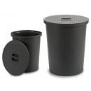 mayorista Casa y cocina: cesto para colada rattan 25l redondo gris
