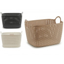 wholesale Organisers & Storage: carrycot rattan large rectangular handles assorted