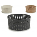 wholesale Crockery: rattan tray medium round 4 times assorted col