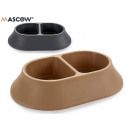 divider pet feeder 2 times assorted colors