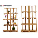white folding shelving