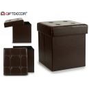 cesto para colada cuadrado cosido chocolate