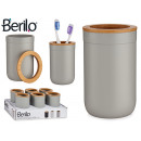 gray toothbrush holder with bambu lid