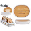 white soap dish with bamboo lid
