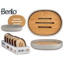 wholesale Bath Furniture & Accessories: gray soap dish with bamboo top