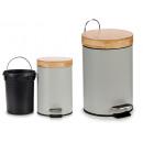 grossiste Jardin et bricolage: 3l poubelle grise avec couvercle en bambou