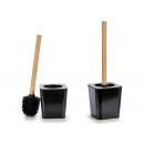 toilet brush square black mango bambu