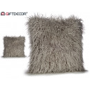 Synthetic leather cushion 45x45 gray
