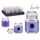 lavender glass candle 22h