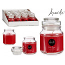 wholesale Home & Living: candle cover glass red fruits 28h