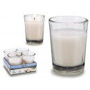 wholesale Drinking Glasses: set of 4 candles glass cotton 6h